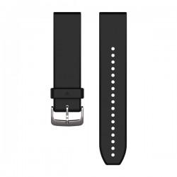 GARMIN - Bracelete QuickFit 22 Silicone Black/Silver
