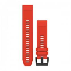GARMIN - Bracelete QuickFit 22 Silicone Vermelho Fogo