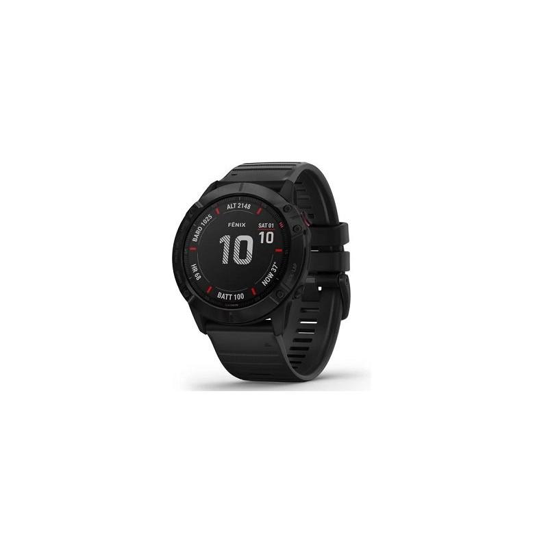 GARMIN - Fénix 6X Pro preto com bracelete preta